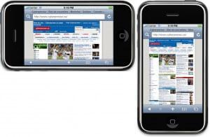 Comment votre site s'affiche-t-il sur le iPhone?