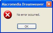 An error message without error?